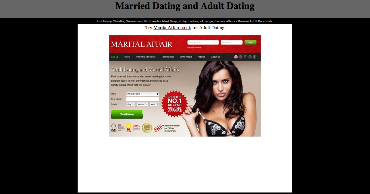 affairs dating site